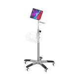 Medical Grade rolling roll stand , big wheel , Nylon base , Universal tablet holder