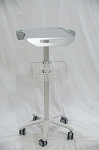 Mobile Rolling Cart for Ultrasound Imaging Scanner System. customizable fixed height