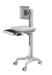 Medical Computer trolley- manual height adjustable.