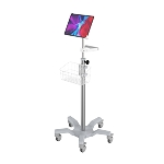 Medical Grade rolling roll stand , big wheel , sucken base, Universal tablet holder