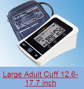 EastShore bp1305L TALKING Digital arm blood pressure monitor Large LCD+features (120 Memory , WHO indicator), LARGE ADULT CUFF