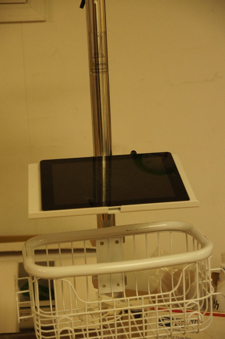 Laptop or tablet ( iPad) holder kit for Small Wheel Rolling stand