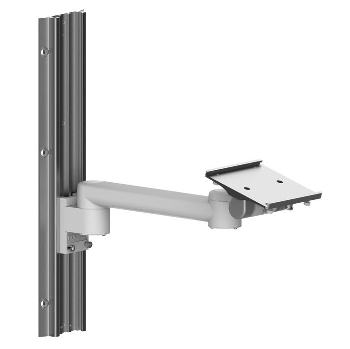 White Long Arm double pivoting Wall Mount for Patient Monitor